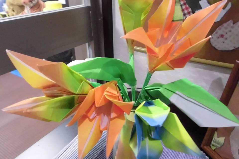 「手作りのお花」